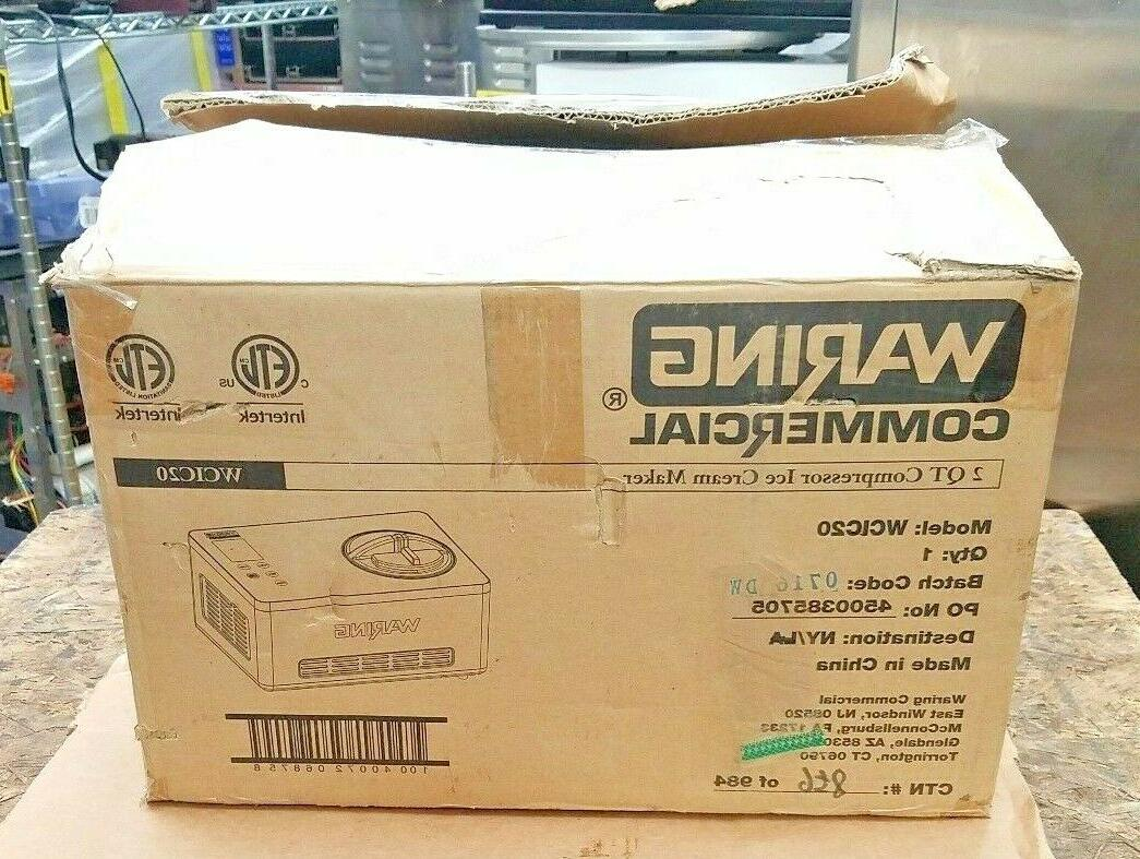 wcic20 commercial ice cream maker 2 qt