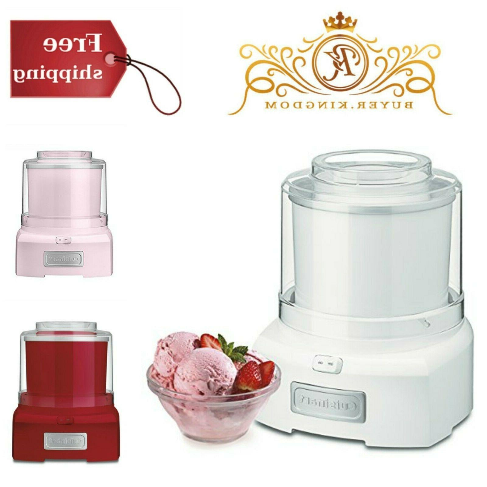 Yogurt Ice Cream Sorbet Maker Easy Lock Transparent Lid 1.5