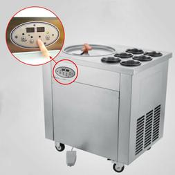 Fried Ice Cream Machine,Roll Ice Cream Maker w/Temperature