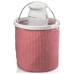 Hamilton Beach - Collapsible Bucket Ice Cream Maker - Red/wh