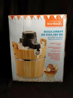 new 4 quart wooden bucket ice cream
