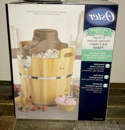 NEW! Oster 4-Quart Wooden Bucket Ice Cream Maker FRSTIC-WDB-