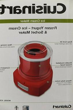 NEW  Cuisinart Frozen Yogurt Ice Cream Sorbet Maker Automati