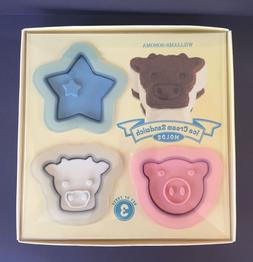 NEW Williams Sonoma Pig Star Cow Ice Cream Sandwich Maker Mo