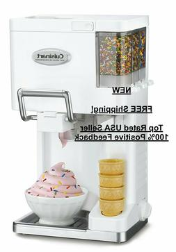 NEW - White Cuisinart ICE-45 Mix It In Soft Serve 1-1/2-Quar