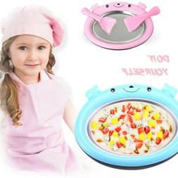Non-electronic Instant Ice Cream Maker Ice Roll Pan Machine