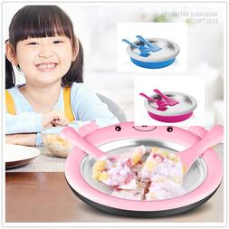 Non-electronic Instant Ice Cream Maker Roll Pan Machine Froz