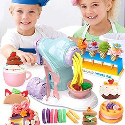 Noodle Ice Cream Machine Toy, DIY Color Clay Manual Maker Ma