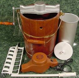 Old Fashioned ICE CREAM MAKER 6 Quart Electric or Hand Opera