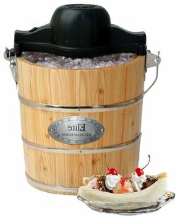 Old Fashioned Ice Cream Maker Elite 4-Quart Color Black Brow