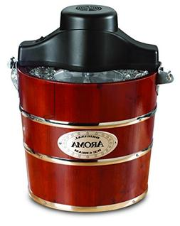 OpenBox Aroma 4-Quart Traditional Ice Cream Maker, Fir Wood