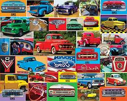 White Mountain Puzzles Classic Ford Pickups- 1000 Piece Jigs