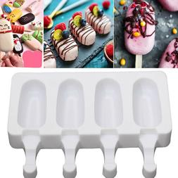 Silicone Ice Cream DIY Mold Pop Ice Lolly Maker Frozen Mould