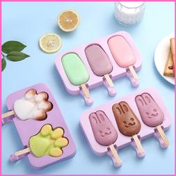 silicone ice cream mold popsicle cartoon ice