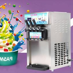 Soft Ice Cream Machine Frozen Yogurt Ice Cream Maker Mix Fla