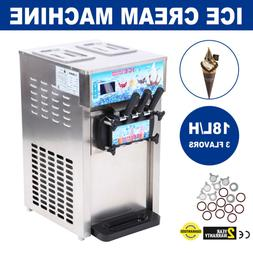Soft Ice Cream Maker Frozen Yogurt Making Machine 110V 3-fla