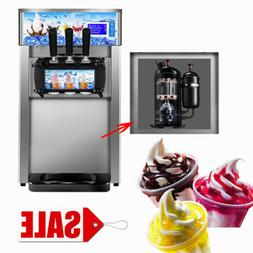 Soft Ice Cream Maker Frozen Yogurt Making Machine 3-flavor 1
