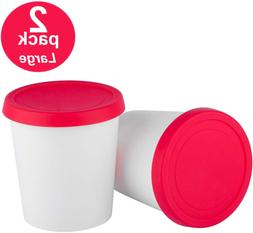 StarPack Home Ice Cream Freezer Storage Containers Set of 2