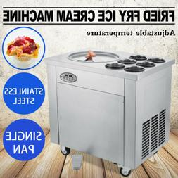 Thai Fried Ice Cream Machine Roll Ice Cream Maker w/ Tempera