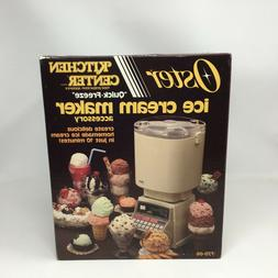 Vintage OSTER Kitchen Center Ice Cream Maker Accessory in Or