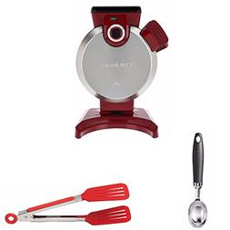 Cuisinart WAF-V100 Vertical Waffle Maker, Red  Includes Cuis
